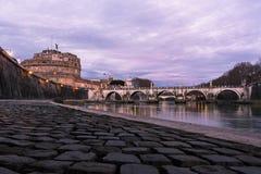 Castel SantAngelo en Roma - Italia Imagenes de archivo
