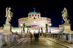 Castel santangelo at night Stock Photos