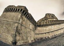Castel Santangelo no inverno, Roma imagem de stock royalty free
