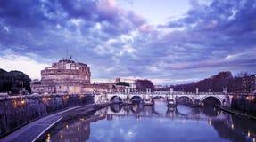 Castel Santangelo a Roma Fotografie Stock Libere da Diritti
