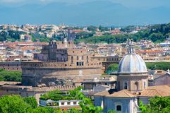 Castel Santangelo, Roma, Panorama from Gianicolo, Italy. Castel Santangelo, Roma, Panorama from Gianicolo hill, Italy Stock Photos