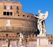 Castel SantAngelo in Rome Italië Stock Foto's