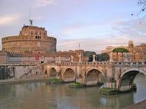 Castel SantAngelo in Rome Italië Stock Foto