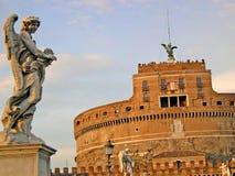 Castel SantAngelo in Rome Italië Royalty-vrije Stock Foto's