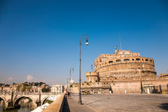 Castel SantAngelo view from the side. In Rome, Italy Royalty Free Stock Image