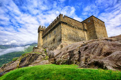 Castel Sasso Corbaro, Bellinzona, Szwajcaria zdjęcia royalty free