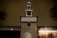 castel sforzesco έξι του Μιλάνου Στοκ φωτογραφία με δικαίωμα ελεύθερης χρήσης