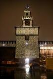 Castel Sforzesco - Milaan - Vijf Stock Fotografie