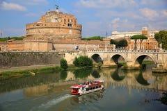 Castel ST Angelo και γέφυρα του ST Angelo στη Ρώμη, Ιταλία Στοκ φωτογραφία με δικαίωμα ελεύθερης χρήσης