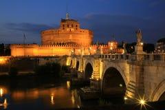 Castel ST Angelo και γέφυρα του ST Angelo στη Ρώμη Στοκ Εικόνα