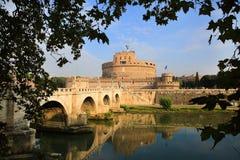 Castel ST Angelo και γέφυρα του ST Angelo στη Ρώμη Στοκ φωτογραφία με δικαίωμα ελεύθερης χρήσης