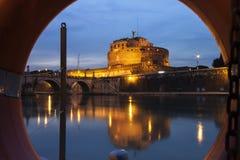 Castel St.Angelo στη Ρώμη Στοκ εικόνα με δικαίωμα ελεύθερης χρήσης