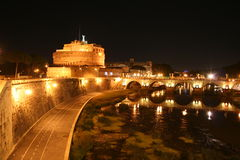 Castel St. Angelo: The Hadrian's Mausoleum Royalty Free Stock Photo
