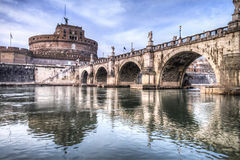Castel St.Angelo in Rome Stock Images