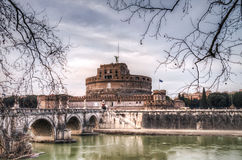 Castel St.Angelo in Rome Stock Photos
