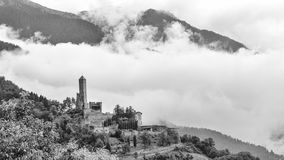 Castel Telvana κοντά σε Borgo Valsugana, Ιταλία Στοκ Φωτογραφίες