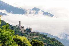 Castel Telvana vicino a Borgo Valsugana, Italia Immagini Stock