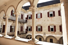 Castel thun inside view Royalty Free Stock Images