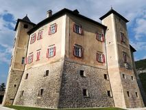 Castel Thun in the province of Trento in Trentino Alto Adige. Castel Thun is a monumental building of medieval origin, one of the best preserved in Trentino and royalty free stock photos