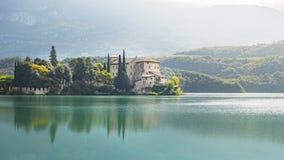 Castel Toblino i Italien Arkivbild