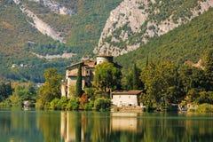 Castel Toblino near lake Toblino Royalty Free Stock Images