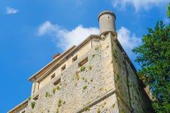 Castel in un centro del San Marino fotografia stock