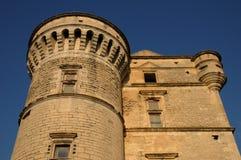 Castel van Gordes in de Provence Stock Foto