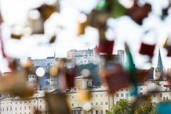 Castel van Salzburg stock afbeeldingen