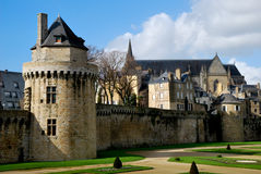 Castel in Vannes Stock Photo