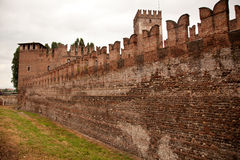 Castel Vecchio battlements Royalty Free Stock Photography