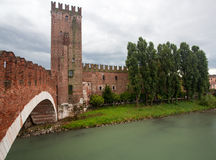 Castel Vecchio bridge Stock Images