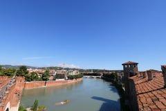 Castel Vecchio Bridge (Scaliger Bridge) in Verona Stock Image