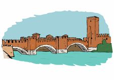 Castel Vecchio Bridge,Verona Stock Photography