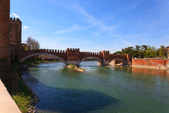 Castel Vecchio Bridge, Verona Royalty Free Stock Photo