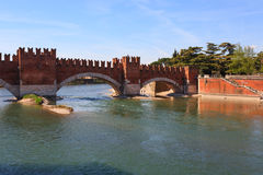 Castel Vecchio Bridge, Verona Royalty Free Stock Photos