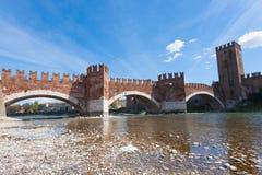 Castel Vecchio Bridge, Verona Stock Images