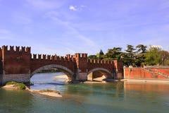 Castel Vecchio Bridge, Verona Royalty Free Stock Photography