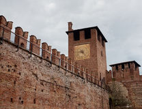 Castel Vecchio tower Stock Photo
