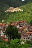 Castel Vittorio and Pigna mountain village, Liguri Stock Photos