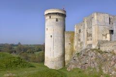 Castel von Falaise in Frankreich stockfotos