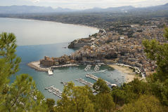 Castelammare del Golfo. Castellammare del Golfo is a town and comune in the Trapani Province of Sicily. The name is roughly translated Sea- Fortress of the Gulf royalty free stock photos