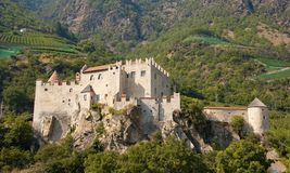 Castelbello / Kastelbell. Beautiful old castle in north Italy with sunlight Royalty Free Stock Photos