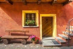 Casteldelfino (Cuneo). Casteldelfino (Cuneo, Val Varaita, Piedmont, Italy), typical mountain village at summer: a house Royalty Free Stock Images