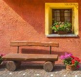 Casteldelfino (Cuneo). Casteldelfino (Cuneo, Val Varaita, Piedmont, Italy), typical mountain village at summer: a house Stock Photo