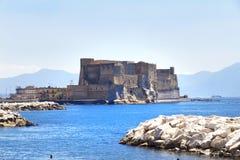 Casteldell'ovo, Napels, Italië Royalty-vrije Stock Foto's