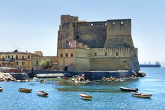 Casteldell'ovo, Napels, Italië Stock Foto