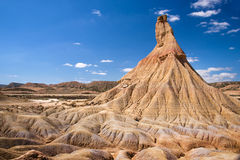 Castelditierra mountain in Bardenas Reales nature park, Navarra Stock Photography