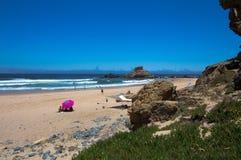 Castelejo海滩,阿尔加威,葡萄牙 库存照片