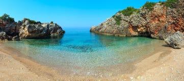 Summer Ionian sea coast, Albania. Stock Image