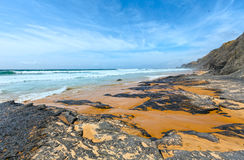 Castelejo beach (Algarve, Portugal). Royalty Free Stock Photography